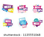 set of big sale shopping poster | Shutterstock .eps vector #1135551068