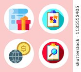 simple 4 icon set of note... | Shutterstock .eps vector #1135553405