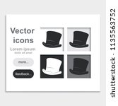 cylinder hat placed on web page ... | Shutterstock .eps vector #1135563752