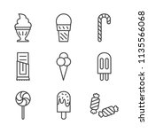 ice cream food line icon | Shutterstock .eps vector #1135566068