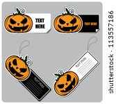 set of tags and stickers with... | Shutterstock .eps vector #113557186