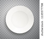 plate isolated on transparent... | Shutterstock .eps vector #1135577708