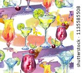bar party cocktail drink.... | Shutterstock . vector #1135585508