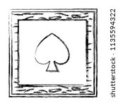 grunge framework spade card...   Shutterstock .eps vector #1135594322