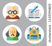 simple 4 icon set of book... | Shutterstock .eps vector #1135594805