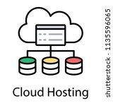 cloud computing network... | Shutterstock .eps vector #1135596065