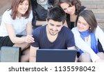closeup. groups of students...   Shutterstock . vector #1135598042