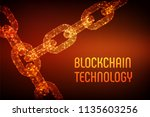 block chain. crypto currency.... | Shutterstock .eps vector #1135603256
