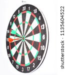 dart board with a dart in the...   Shutterstock . vector #1135604522