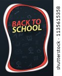 back to school banner. paper...   Shutterstock .eps vector #1135615358