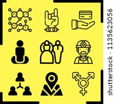 simple 9 icon set of human... | Shutterstock .eps vector #1135623056