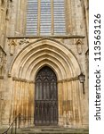 One Gate Of York Minster In Uk