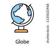 icon showing showing world... | Shutterstock .eps vector #1135632968