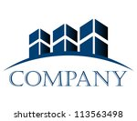 vector icon with buildings and... | Shutterstock .eps vector #113563498