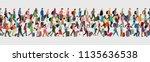 travelers seamless banner.... | Shutterstock .eps vector #1135636538