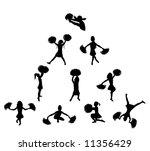 cheerleaders in pyramid | Shutterstock . vector #11356429