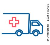 truck with red cross. medical... | Shutterstock .eps vector #1135646498