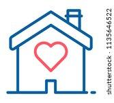 house with a heart shape inside.... | Shutterstock .eps vector #1135646522