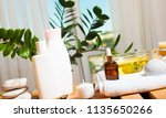 beautiful spa composition on...   Shutterstock . vector #1135650266