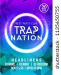 club music poster banner design.... | Shutterstock .eps vector #1135650755