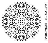 flower mandala vector... | Shutterstock .eps vector #1135653845