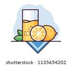 lemonade vector illustration | Shutterstock .eps vector #1135654202