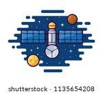 satellite vector illustration | Shutterstock .eps vector #1135654208
