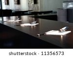 three silver spoons on the table | Shutterstock . vector #11356573
