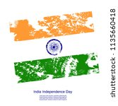 happy india independence day. ...   Shutterstock .eps vector #1135660418