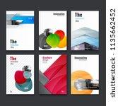 abstract flyer design... | Shutterstock .eps vector #1135662452