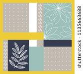 summer scarf pattern design | Shutterstock .eps vector #1135663688