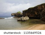saipan tourism scenery shark... | Shutterstock . vector #1135669526