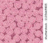 floral seamless pattern.... | Shutterstock .eps vector #1135669805