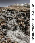 pure mountain stream  retro... | Shutterstock . vector #1135680605