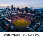 aerial drone photo   skyline of ... | Shutterstock . vector #1135691192