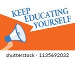 writing note showing keep...   Shutterstock . vector #1135692032