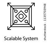 a conceptual line icon design... | Shutterstock .eps vector #1135703948