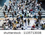 osaka crosswalk people   Shutterstock . vector #1135713038