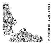 retro baroque decorations...   Shutterstock .eps vector #1135713065