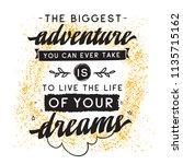 inspirational quote  motivation.... | Shutterstock .eps vector #1135715162