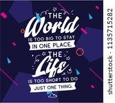 inspirational quote  motivation.... | Shutterstock .eps vector #1135715282