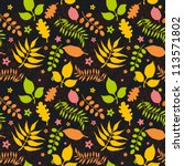 vector seamless pattern with... | Shutterstock .eps vector #113571802