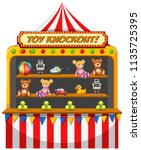 a funfair stall on white... | Shutterstock .eps vector #1135725395