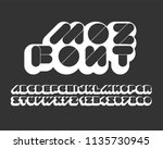 thick bold rounded font set | Shutterstock .eps vector #1135730945