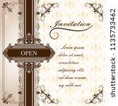premium invitation or wedding... | Shutterstock .eps vector #1135733462
