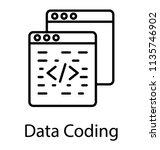 a html source code on website... | Shutterstock .eps vector #1135746902