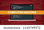 computer hacking concept with... | Shutterstock .eps vector #1135749572