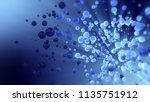 blue abstract 3d rendering of... | Shutterstock . vector #1135751912