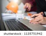 cooperation corporate... | Shutterstock . vector #1135751942