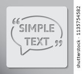 vector square speech bubble... | Shutterstock .eps vector #1135754582